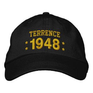 Geboren im Jahre 1948 oder irgendein Geburtstag Bestickte Baseballkappe