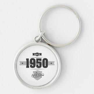 Geboren im Jahre 1950 (Dark&Lightgrey) Schlüsselanhänger