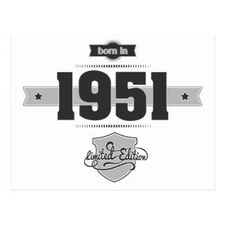 Geboren im Jahre 1951 (Dark&Lightgrey) Postkarte