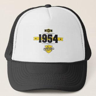 geboren im Jahre 1954 (choco&yellow) Truckerkappe