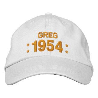 Geboren im Jahre 1954 oder irgendein Geburtstag Bestickte Baseballkappe