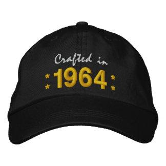 Geboren im Jahre 1964 oder irgendein Geburtstag Bestickte Kappe