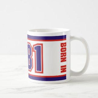 Geboren im Jahre 1981 Kaffeetasse