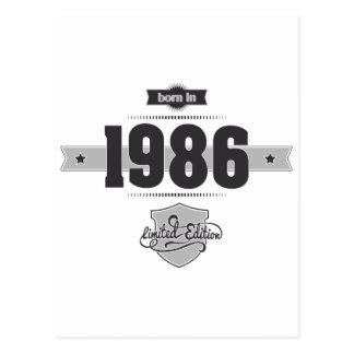 Geboren im Jahre 1986 (Dark&Lightgrey) Postkarte