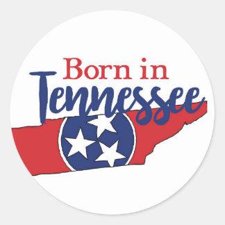 Geboren in Tennessee Runder Aufkleber