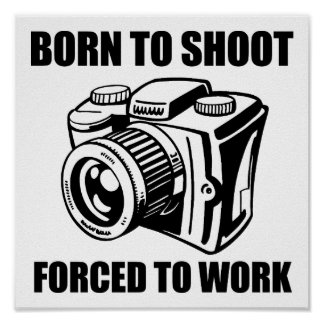 Geboren, lustiges Plakat zu schießen