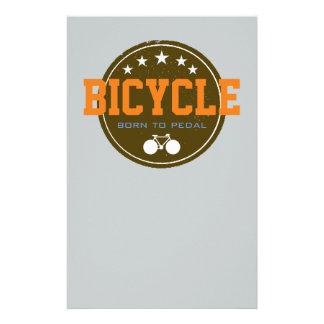 geboren radzueln Fahrrad-themenorientiert Briefpapier