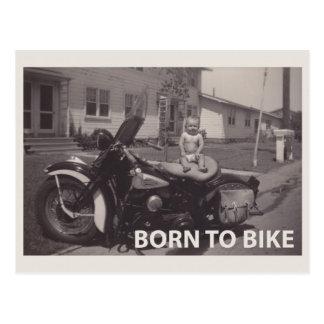 geboren radzufahren postkarte