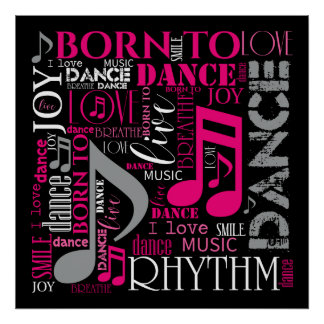 Geboren, rosa ID277 zu tanzen Poster