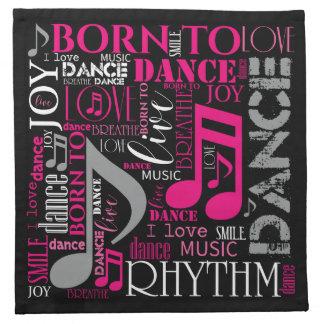 Geboren, rosa ID277 zu tanzen Stoffserviette