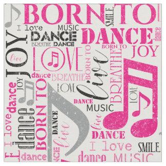 Geboren, rosa/schwarzes ID277 zu tanzen Stoff