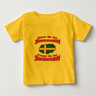 Geboren, Schwede zu sein, stolz, schwedisch zu Baby T-shirt