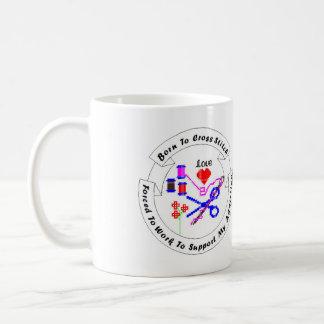 Geboren, Stich-Tasse zu kreuzen Kaffeetasse