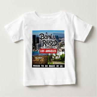 Geboren u. in Los Angeles angehoben Baby T-shirt