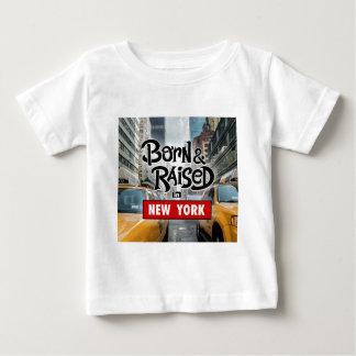 Geboren u. in NEW YORK angehoben Baby T-shirt