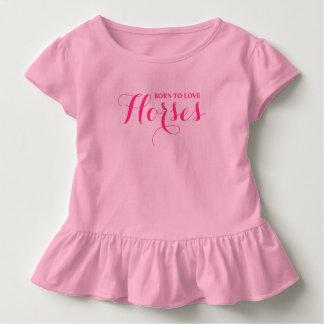 Geboren zu den Liebe-Pferden Kleinkind T-shirt