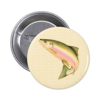 Geboren zu fischen runder button 5,7 cm