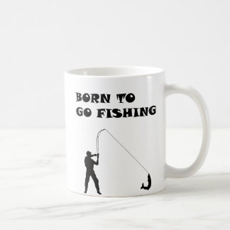 Geboren zu fischen zu gehen kaffeetasse