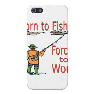 Geboren zu fischen Zwangs, um Rot zu bearbeiten iPhone 5 Schutzhüllen