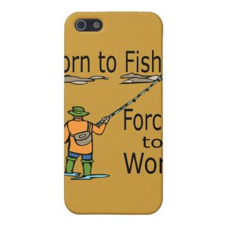 Geboren zu fischen Zwangs, um Schwarzes zu iPhone 5 Hüllen