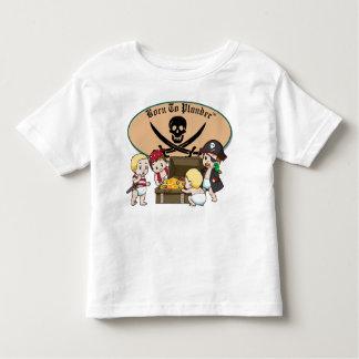 Geboren zu plündern - Baby-Jungen-Piraten u. Tshirts
