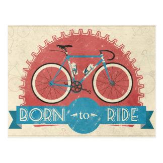Geboren zu reiten postkarte