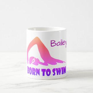 Geboren zu schwimmen, Freistilschwimmer, Kaffeetasse