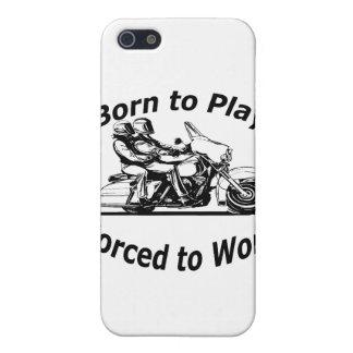 Geboren zu spielen Zwangs, um Motorrad-Schwarzes Etui Fürs iPhone 5