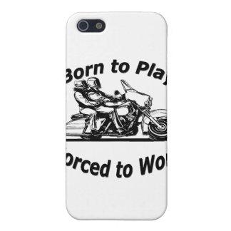 Geboren zu spielen Zwangs, um Motorrad-Schwarzes Schutzhülle Fürs iPhone 5