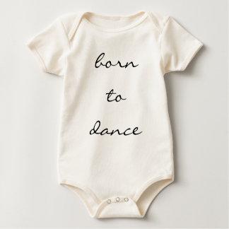 geboren zu tanzen baby strampler