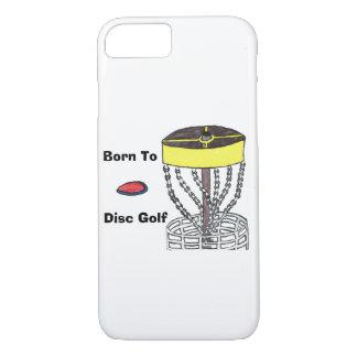 Geboren zum Disc-Golf-Telefonkasten iPhone 8/7 Hülle