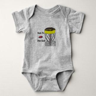 Geboren zum Disc-Golfbaby onsie Körper-Anzug Baby Strampler