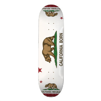 Geborene Bärn-Flagge Kaliforniens Skateboard Deck
