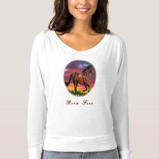 Geborene freie Pferde T-shirt