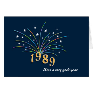 Geborene im Jahre 1989 Geburtstags-Gruß-Karte Grußkarte