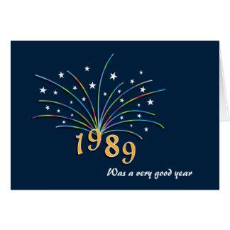 Geborene im Jahre 1989 Geburtstags-Gruß-Karte Karte