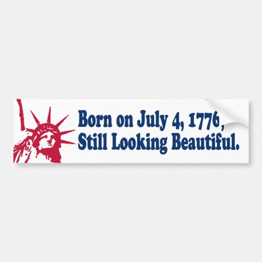 Geborener am 4. Juli 1776 Autoaufkleber