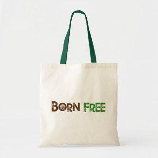 Geborener freier Baum Budget Stoffbeutel