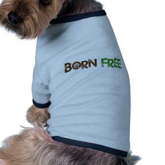 Geborener freier Baum Hunde T Shirt