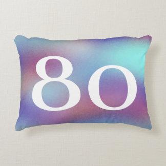 Geborener im Jahre 1937 bunter 80. Dekokissen