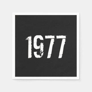 Geborener im Jahre 1977 Geburtstag Servietten