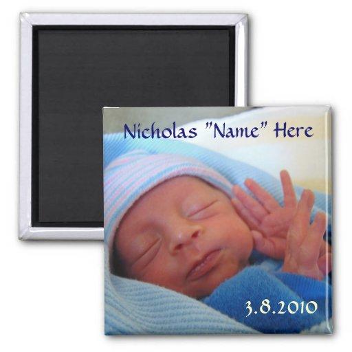 Geborener Magnet des Babys neue Baby-Mitteilungsge Magnete