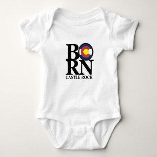 GEBORENER Schloss-Felsen-Colorado-Baby-Einteiler Baby Strampler