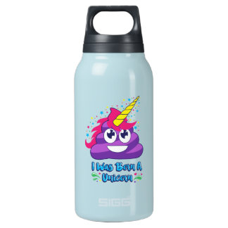 Geborener Unicorn Emoji Isolierte Flasche
