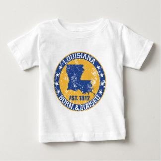 geborenes angehobenes blaues Gold Louisianas Baby T-shirt