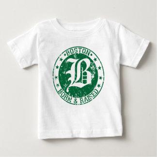 Geborenes angehobenes Grün Bostons Baby T-shirt