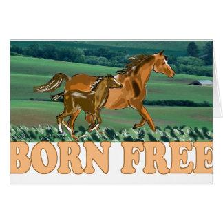 geborenes freies grußkarte