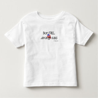 Geborenes freies kleinkinder t-shirt