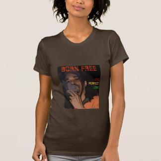 Geborenes freies, OPL rasta Farbe - Damen T-Shirt
