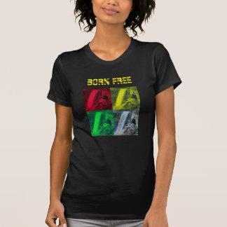 Geborenes freies, OPL rasta Farbe - das Lori der T-Shirts